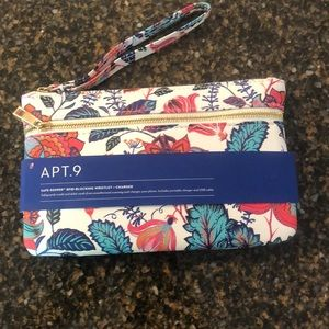 APT.9 RFID Blocking Wristlet with charger